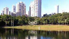 Parque Vaca Brava está pronto para receber a chama olímpica (Foto: Thaís Luquesi / TV Anhanguera)