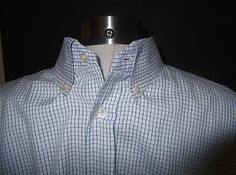 Thomas Pink of London Men's Blue w White Checked Dress Shirt Size 16.5 / 34  $29.95