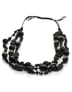 Statement black necklace, pair with jeans, dress, any color. Crafted by artisans in Nepal. #fairtrade #jewelry
