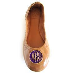 these monogrammed ballet flats