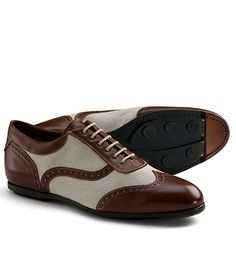 4069f4d4e6ef4 Leather and Canvas Wingtip Sneaker