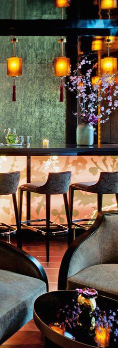 Modern Asian design hotel in Paris, France Asian Interior, Bar Interior, Interior Design, Interior Modern, Kitchen Interior, Estilo Art Deco, Paris Home, Modern Asian, Asian Restaurants