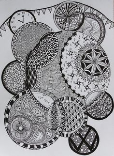 zentangle borders | zentangle borders I want to learn - a gallery on Flickr