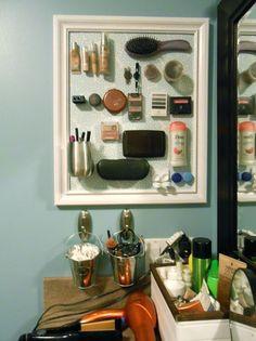 Magnetic Makeup Organizers (Pinterest Challenge)
