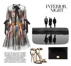 """Oil on Canvas"" by alkiiiii on Polyvore featuring Elie Saab and Victoria Beckham"