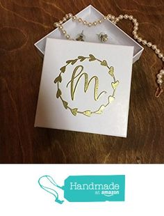 Custom Personalized Calligraphy Jewelry Gift Box, Gold or Copper Embossed by Hand with Lid, for Bridal Party Favors, Bridesmaid Gifts, Maid of Honor, Flower Girl, Birthday's, or Anniversary from Laird & Brie https://www.amazon.com/dp/B01N4UC7DO/ref=hnd_sw_r_pi_dp_VC2MybXETNEM1 #handmadeatamazon