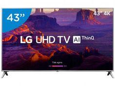 "Smart TV 4K LED 43"" LG 43UK6520 Wi-Fi HDR - Inteligência Artificial Conversor Digital 4 HDMI Tvs, Quad, Wi Fi, Tv Oled, Samsung 4k, Samsung Galaxy, Tv Led 40, Products, Coupon"