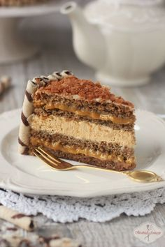 Tort kawowy z kajmakiem / Coffee cake with dulche de leche recipe