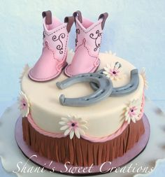 Baby cowgirls first cake