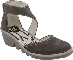 Fly London Piat women's casuals (Grey/Black ) Comfy Shoes, Comfortable Shoes, Sock Shoes, Shoe Boots, Fly Shoes, Closed Toe Wedges, Sensible Shoes, Fly London Shoes, Quoi Porter