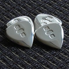 Jazz Fat Solid Silver Luxury Guitar Plectrum. Hall Marked from Assay London