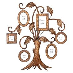 family tree wall decorations   Aspire Family Tree Picture Frame Wall Decor Material: Metal. Color ...