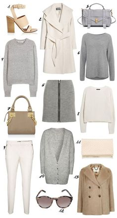 Winter Whites & Neutral Color Shopping Picks and Outfit Ideas. More on: www.thedashingrider.com