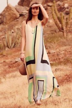 Maeve Abstracted Maxi Dress