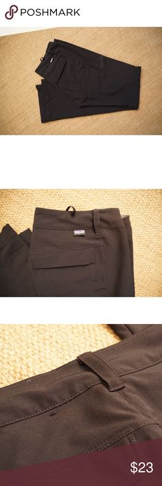 Happy Hike Pants Gently Used, No Fading or Stains. Small hole on back below waistband (as seen above in photos.) Comes from a Pet-FREE & Smoke-FREE. Patagonia Pants Straight Leg