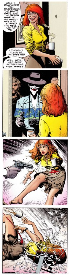 Barbara Gordon's Nightmare The Killing Joke (1988) Art by Brian Bolland Words by Alan Moore