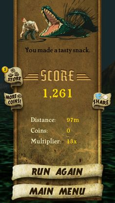 I got 1,261 points while escaping from demon monkeys. Beat that! http://bit.ly/TempleRunGame #TempleRun
