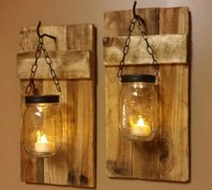 Rustic home decor rustic candles lights home and living mason jar decor farmhouse decor wood decor candle holders priced 1 each Rustic Wood Candle Holder Rustic Home by TeesTransformations Rustic Lanterns, Rustic Candles, Porch Lanterns, Outdoor Candles, Rustic Lamps, Rustic Chandelier, Wood Sconce, Candle Sconces, Wall Sconces