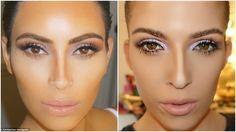 How To Contour Like Kim Kardashian Nose Contouring, Easy Makeup Tutorial, Simple Makeup, Kim Kardashian, How To Apply, Image, Simple Makeup Looks