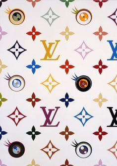 Louis Vuitton Eye Love Superflat White Monogram by Takashi Murakami Takashi Murakami Louis Vuitton, Takashi Murakami Art, Louis Vuitton Pattern, Superflat, Apple Watch Wallpaper, Supreme Wallpaper, Trippy Wallpaper, Aesthetic Iphone Wallpaper, Star Wars Art