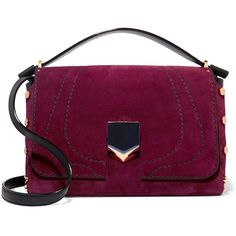 What's new via Polyvore featuring purple suede handbag, suede shoulder bag, purple handbags, purple purse и leather purses