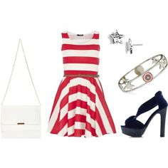 4th of July Outfit by collegefashion, via Polyvore