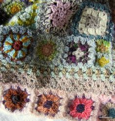 a photo of a beautiful crochet granny blanket