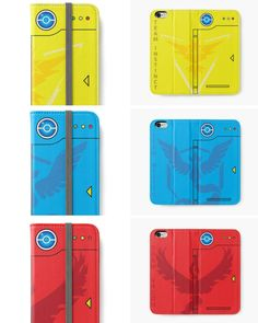 Show the world your allegiance to Team Instinct, Team Mystic, or Team Valor with these stylish phone cases that are modeled after the classic Pokédex.