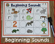 Templates for learning beginning sounds. Use with dry erase markers, magnetic letters or velcro. Great hands-on activity for literacy centers.