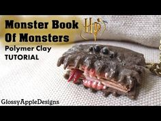 Newest Snap Shots Polymer Clay Crafts harry potter Suggestions Miniature Polymer Clay Harry Potter's Monster Book of Monsters Charm Tutorial Polymer Clay Dolls, Polymer Clay Flowers, Polymer Clay Miniatures, Polymer Clay Charms, Polymer Clay Creations, Harry Potter Diy, Harry Potter Monster Book, Clay Monsters, Monster Book Of Monsters