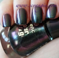 Essence nail polish in Chic Reloaded, courtesy of Scrangie. This is so amazing.