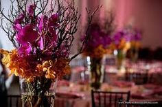 Image result for weddings orange and purple