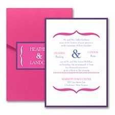 Vivid Accents - Layered Pocket Invitation