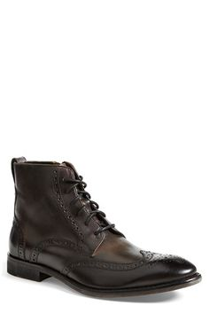 John Varvatos Star USA 'Dearborn' Wingtip Boot available at #Nordstrom