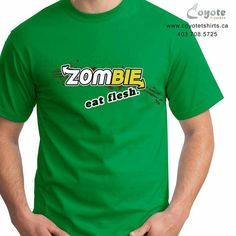 www.coyotetshirts.ca 403.708.5725 No minimum, no setup fee, small order friendly, personal customization guaranteed, 24 to 48 hour turnaround, at 5534 1A ST SW Calgary. #Calgary #Alberta #Coyotetshirts #CustomTshirts #CalgaryAlberta #WalkingDead #ZombieGames #Zombie