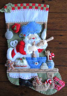 Bucilla Chef Santa 18 terminado por MissingSockStitchery en Etsy