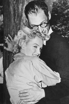 With then husband Arthur Miller in 1956.   - ELLE.com