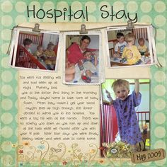 Scrapbook layout ► Like this page - like what was done with the string and clips for the photos