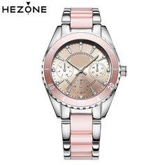 a8ab506b8f5 Aliexpress.com   Buy HEZONE Women Watch Ladies Analog Quartz Watches Lady  Stainless Steel Wristwatch Bracelet Relogio Feminino relogio feminino Mujer  from ...