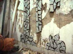 Arte em casa - Mosaico na parede - Irecê Bahia - 16/12/2012