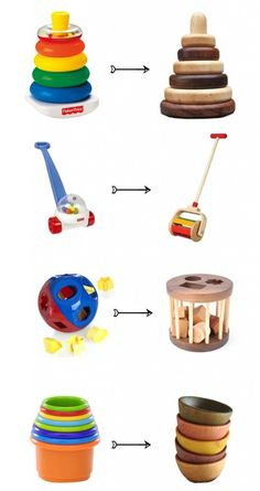 Non-plastic alternatives to plastic toys - ♡ForThePlanet♡ - Baby Diy Wood Projects, Woodworking Projects, Woodworking Toys, Woodworking Patterns, Plastic Alternatives, Wood Toys, Wooden Toys For Babies, Classic Toys, Toddler Toys