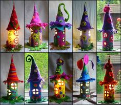 These fairy house so pretty, you can order from Etsy or follow below video instructions make your own fairy house.