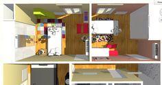 Vista detalle de dormitorios de niños.