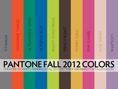 Color inspiration: What's Trending For Fall 2012
