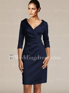 Short V-Neck Groom Mother Dresses with Sleeves MO192 541ec1397e92