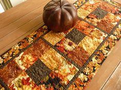 Thanksgiving Table Runner - Fall Table Runner - Autumn Table Runner - Elegant, rich colors. $65.00, via Etsy.