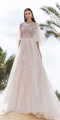 c3d1d52390d 11 Most inspiring Romantic 3D Lace Wedding Dress images