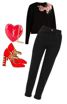 """Untitled #1963"" by sylviabunny ❤ liked on Polyvore featuring Dolce&Gabbana, Topshop and Yves Saint Laurent"
