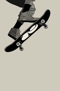 Vuela an art print by Gianmarco Magnani Skate 3, Skate Girl, Skate Style, Aesthetic Drawing, Aesthetic Art, Aesthetic Pictures, Aesthetic Anime, Skateboard Design, Skateboard Art