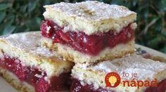 recept egyenesen a Receptneked. Gourmet Recipes, Sweet Recipes, Baking Recipes, Cookie Recipes, Hungarian Desserts, Hungarian Recipes, Sour Cherry Pie, Fun Desserts, Dessert Recipes